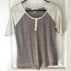 Derek Heart Baseball Tee Grey/White